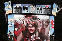 8 April 2008: Stanford Cardinal fans during Stanford's 64-48 loss against the Tennessee Lady Volunteers in the 2008 NCAA Division I Women's Basketball Final Four championship game at the St. Pete Times Forum Arena in Tampa Bay, FL.