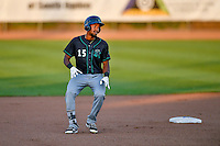 Northwest League All-Star Chris Pieters (15) of the Eugene Emeralds rounds second base against the Pioneer League All-Stars at the 2nd Annual Northwest League-Pioneer League All-Star Game at Lindquist Field on August 2, 2016 in Ogden, Utah. The Northwest League defeated the Pioneer League 11-5.  (Stephen Smith/Four Seam Images)