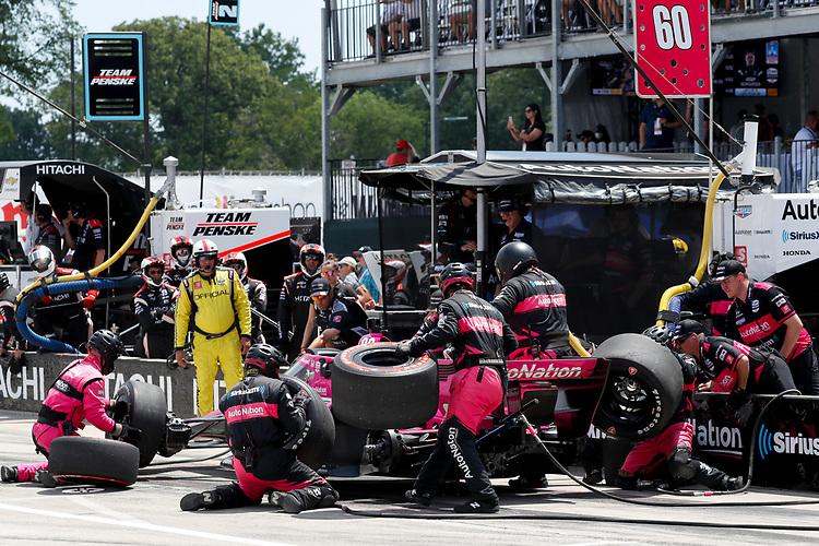 #60: Pit Stop, Jack Harvey, Meyer Shank Racing Honda