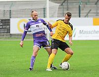 Sporting West Harelbeke - SCT Menen :<br /> Joachim Vercouter (L) in strijd met Tibo Vandendriessche (R)<br /> <br /> Foto VDB / Bart Vandenbroucke