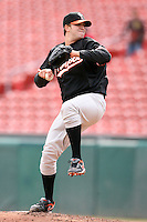 May 9, 2009:  Relief Pitcher Matt Albers of the Norfolk Tides, International League Class-AAA affiliate of the Baltimore Orioles, delivers a pitch during a game at Coca-Cola Field in Buffalo, FL.  Photo by:  Mike Janes/Four Seam Images