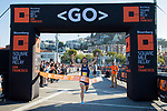 Runners compete at the Bloomberg Square Mile Relay race across Pier 27 at the James R. Herman Cruise Terminal on on 2nd August 2018, in San Francisco, California, United States. Photo by Victor Fraile / Power Sport Images