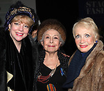 KT Sullivan & Marge Champion & Jane Powell.attends the reception and unveiling for the Al Hirschfeld permanent installation at The New York Public Library for Performing Arts in New York City..