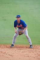 Grae Kessinger (30) of Oxford High School in Oxford, Mississippi playing for the New York Mets scout team during the East Coast Pro Showcase on July 29, 2015 at George M. Steinbrenner Field in Tampa, Florida.  (Mike Janes/Four Seam Images)