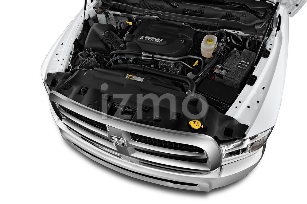 Car stock 2018 Ram Ram 2500 Pickup Tradesman 4wd Crew Cab LWB 4 Door Pick Up engine high angle detail view