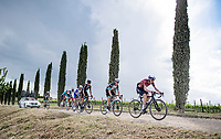 """Dan Martin (IRE/Israel Start-Up Nation) over the final gravel sector of the day.<br /> <br /> 104th Giro d'Italia 2021 (2.UWT)<br /> Stage 11 from Perugia to Montalcino (162km)<br /> """"the Strade Bianche stage""""<br /> <br /> ©kramon"""