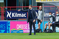 25th September 2021; Kilmac Stadium, Dundee, Scotland: Scottish Premiership football, Dundee versus Rangers; Rangers manager Steven Gerrard gives instructions to his team