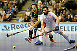 Berlin, Germany, February 10: During the FIH Indoor Hockey World Cup semi-final match between Germany (black) and Iran (white) on February 10, 2018 at Max-Schmeling-Halle in Berlin, Germany. Final score 6-2. (Photo by Dirk Markgraf / www.265-images.com) *** Local caption *** Marco MILTKAU #22 of Germany
