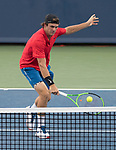 August 15, 2017:   Tommy Paul (USA) loses to John Isner (USA) 6-3, 6-3, at the Western & Southern Open being played at Lindner Family Tennis Center in Mason, Ohio.  ©Leslie Billman/Tennisclix/CSM
