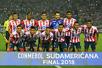 BARRANQUIILLA - COLOMBIA, 05-12-2018: Atlético Junior de Colombia (Foto )  y Atlético Paranaense de Brasil en partido por la final, ida, de la Copa CONMEBOL Sudamericana 2018 jugado en el estadio Metropolitano Roberto Meléndez de la ciudad de Barranquilla. / Atletico Junior of Colombia (Photo)  and Atletico Paranaense of Brazil in Final first leg match as a part of Copa CONMEBOL Sudamericana 2018 played at Roberto Melendez Metropolitan stadium in Barranquilla city.  Photo: VizzorImage / Alfonso Cervantes / Cont