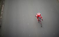 Jhonatan Restrepo (COL/Katusha) checking the action behind him<br /> <br /> 3-daagse van West-Vlaanderen 2016<br /> stage1: Bruges-Harelbeke 176km