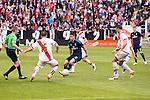 Rayo Vallecano's Antonio Amaya, Rat, Jose Angel Crespo and Roberto Trashorras and Real Madrid's James Rodriguez during La Liga match. April 23,2016. (ALTERPHOTOS/Borja B.Hojas)