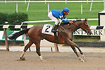 03 10 2009: Music Note and Rajiv Maragh win over a sloppy track in the Grade I Beldame for 3-year olds & up at 1 1/8 at Belmont Park, Elmont, NY
