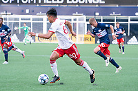FOXBOROUGH, MA - JUNE 26: Dominick Hernandez #80 of North Texas SC during a game between North Texas SC and New England Revolution II at Gillette Stadium on June 26, 2021 in Foxborough, Massachusetts.