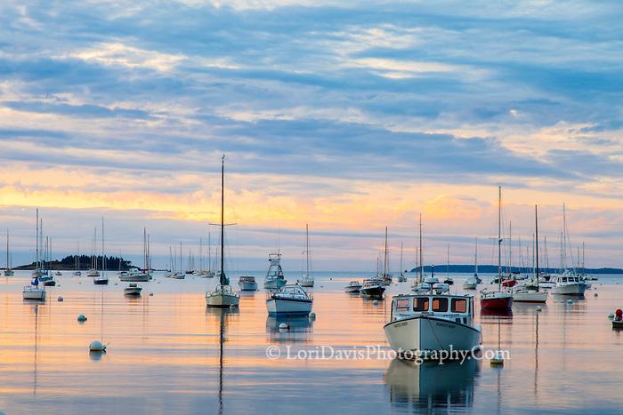 Cloudy Sunrise, Rockport Harbor, Maine #S44