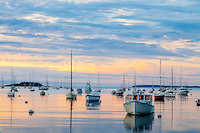 Cloudy Sunrise, Rockport Harbor, Maine #S44