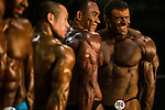 Sazonov Mikhail (r) flex his muscles during the Arnold Classic Mens Bodybuilding during the Arnold Classic Asia 2016 Multi-Sport Festival on 20 August 2016 at the AsiaWorld-Expo, Hong Kong. Photo by Marcio Machado / Power Sport Images