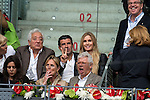 Ex futbol player Luis Figo with his wife Helen Svedin during  TPA Finals Mutua Madrid Open Tennis 2016 in Madrid, May 08, 2016. (ALTERPHOTOS/BorjaB.Hojas)