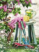Dona Gelsinger, FLOWERS, BLUMEN, FLORES,birds,gardening, paintings+++++,USGE1906,#f#, EVERYDAY