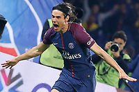 Edinson Roberto Paulo Cavani Gomez (psg) (El Matador) (El Botija) (Florestan) inscrit le premier Gol servi par Angel Di Maria (psg) sur coup franc, Esultanza<br /> Parigi 27-10-2017 Paris Saint Germain - Nizza <br /> Calcio Ligue 1 2017/2018 <br /> Foto Panoramic/insidefoto