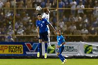 SAN SALVADOR, EL SALVADOR - SEPTEMBER 2: Josh Sargent #9 of the United States wins the header during a game between El Salvador and USMNT at Estadio Cuscatlán on September 2, 2021 in San Salvador, El Salvador.