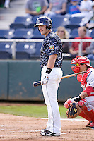 Everett AquaSox's Taylor Ard #25 at bat during a game against the Spokane Indians at Everett Memorial Stadium on June 24, 2012 in Everett, WA.  Spokane defeated Everett 11-2.  (Ronnie Allen/Four Seam Images)
