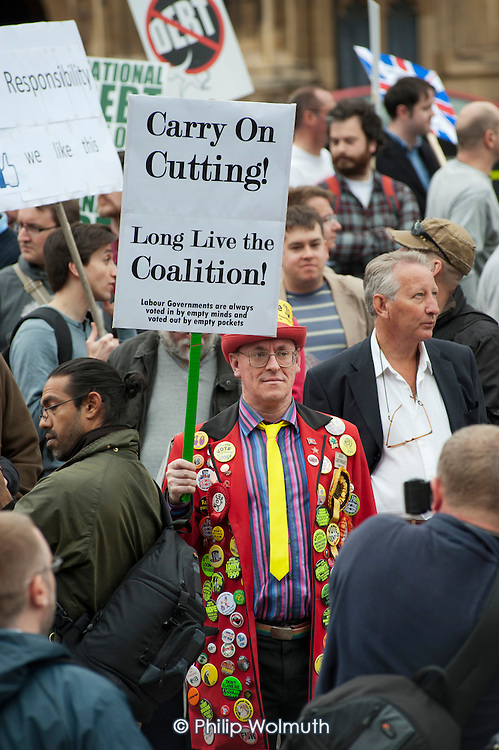 Carry on Cutting!  Long Live the Coalition! The Taxpayers Alliance Rally against Debt, Westminster.