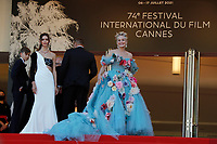 """CANNES, FRANCE - JULY 14: Helena Gatsby and Sharon Stone at the """"A Felesegam Tortenete/The Story Of My Wife"""" screening during the 74th annual Cannes Film Festival on July 14, 2021 in Cannes, France.<br /> CAP/GOL<br /> ©GOL/Capital Pictures"""