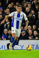 Anthony Knockaert of Brighton & Hove Albion (11) In action ,during the Premier League match between Brighton and Hove Albion and Crystal Palace at the American Express Community Stadium, Brighton and Hove, England on 4 December 2018. Photo by Edward Thomas / PRiME Media Images.