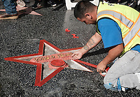 Donald Trump Star @ the Donald Trump star was vandilazed during the night and being repaired held @ the Hollywood Blvd. October 26, 2016