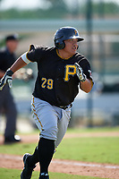 Pittsburgh Pirates Jin-De Jhang (29) during a minor league Spring Training intrasquad game on April 3, 2016 at Pirate City in Bradenton, Florida.  (Mike Janes/Four Seam Images)