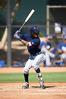 Cleveland Indians Samad Taylor (9) during an Instructional League game against the Los Angeles Dodgers on October 10, 2016 at the Camelback Ranch Complex in Glendale, Arizona.  (Mike Janes/Four Seam Images)