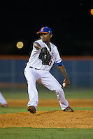 Kingsport Mets relief pitcher Adrian Almeida (3) in action against the Elizabethton Twins at Hunter Wright Stadium on July 9, 2015 in Kingsport, Tennessee.  The Twins defeated the Mets 9-7 in 11 innings. (Brian Westerholt/Four Seam Images)