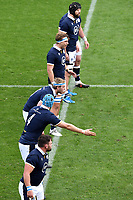 Scott Cummings of Scotland gives directions to team mates during the rugby Autumn Nations Cup's match between Italy and Scotland at Stadio Artemio Franchi on November 14, 2020 in Florence, Italy. Photo Andrea Staccioli / Insidefoto