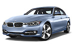 Stock pictures of low aggressive front three quarter view of a 2014 BMW SERIES 3 Sport 4 Door Sedan 2WD Low Aggressive