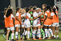 Lakewood Ranch, FL - Wednesday, October 10, 2018:   Team celebration during a U-17 USWNT match against Colombia.  The U-17 USWNT defeated Colombia 4-1.