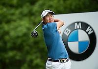 24.05.2015. Wentworth, England. BMW PGA Golf Championship. Final Round.  Byeong Hun An [KOR] starts the day tied first with Francesco Molinari [ITA]. Tee shot 3rd hole during the final round of the 2015 BMW PGA Championship from The West Course Wentworth Golf Club
