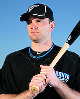 March 1, 2010:  Chris Lubanski (70) of the Toronto Blue Jays poses for a photo during media day at Englebert Complex in Dunedin, FL.  Photo By Mike Janes/Four Seam Images