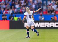 PARIS,  - JUNE 16: Julie Ertz #8 celebrates her goal during a game between Chile and USWNT at Parc des Princes on June 16, 2019 in Paris, France.