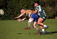 Action from the Counties premier club rugby match between Patumahoe and Manurewa at Patumahoe RFC in Patumahoe, New Zealand on Saturday, 3 July 2021. Photo: Dave Lintott / lintottphoto.co.nz