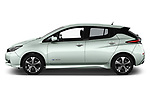 Car driver side profile view of a 2018 Nissan Leaf N Connecta 5 Door Hatchback