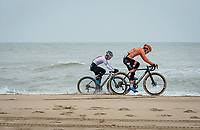 sometimes the waves crash into the riders<br /> <br /> UCI 2021 Cyclocross World Championships - Ostend, Belgium<br /> <br /> U23 Men's Race<br /> <br /> ©kramon