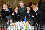 Donnacha Enright, Ciara Murphy, Mick Bulger (Principal), Kyle Brosnan and Stephen McCarthy from Scoil Nuachabháil taking part in the Cara Credit Union School Quiz in the I T Tralee on Sunday.