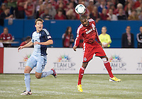09 March 2013: Sporting KC defender Matt Besler #5 and Toronto FC defender Ashtone Morgan #5 in action during an MLS game between Sporting Kansas City and Toronto FC at The Rogers Centre in Toronto, Ontario Canada.