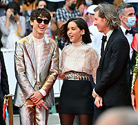 CANNES, FRANCE. July 12, 2021: Timothee Chalamet, Lyna Khoudri & Wes Anderson at the gala premiere of Wes Anderson's The French Despatch at the 74th Festival de Cannes.<br /> Picture: Paul Smith / Featureflash