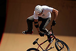 Colin MacKay competes in the BMX Freestyle Park finals during X-Games 12 in Los Angeles, California on August 5, 2006.