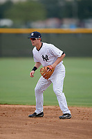 New York Yankees second baseman Nick Solak (2) during an Instructional League game against the Pittsburgh Pirates on September 29, 2017 at the Yankees Minor League Complex in Tampa, Florida.  (Mike Janes/Four Seam Images)