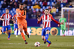 Atletico de Madrid's Juanfran Torres and SD Eibar's Tiago Manuel Dias during Copa del Rey match between Atletico de Madrid and SD Eibar at Vicente Calderon Stadium in Madrid, Spain. January 19, 2017. (ALTERPHOTOS/BorjaB.Hojas)