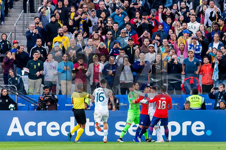São Paulo (SP), 06/07/2019 - Copa América / Argentina x Chile -  Lionel Messi da Argentina recebe cartão vermelho durante partida contra o Chile jogo válido pela disputa do terceiro lugar da Copa América na Arena Corinthians em São Paulo neste sábado. (Foto: Anderson Lira/Brazil Photo Press)
