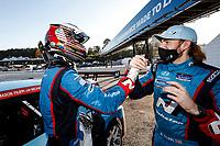 Winners #98 Bryan Herta Autosport w/ Curb Agajanian Hyundai Veloster N TCR, TCR: Michael Lewis, Mason Filippi